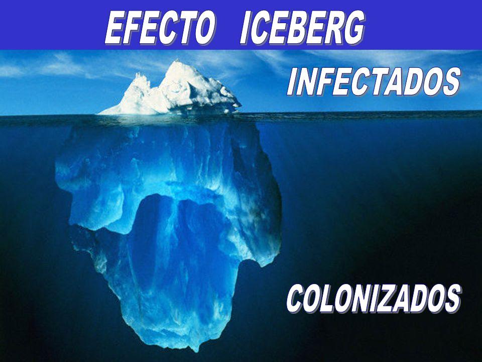 EFECTO ICEBERG INFECTADOS COLONIZADOS