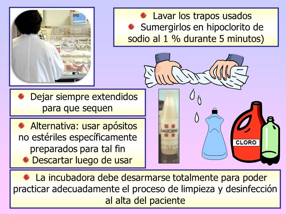 Lavar los trapos usados