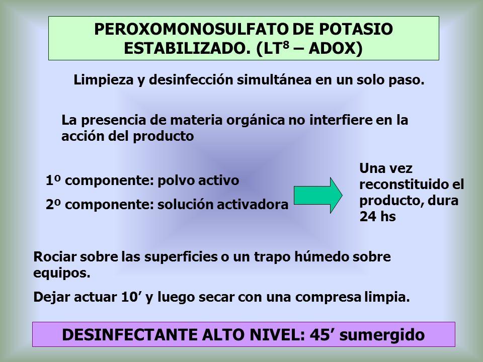 PEROXOMONOSULFATO DE POTASIO ESTABILIZADO. (LT8 – ADOX)