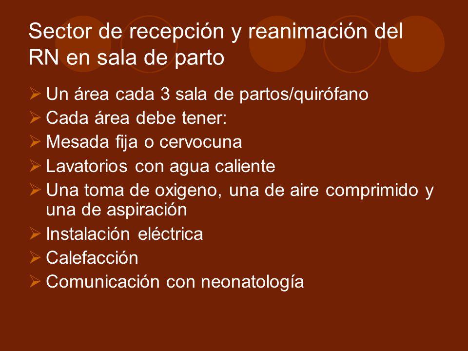 Sector de recepción y reanimación del RN en sala de parto