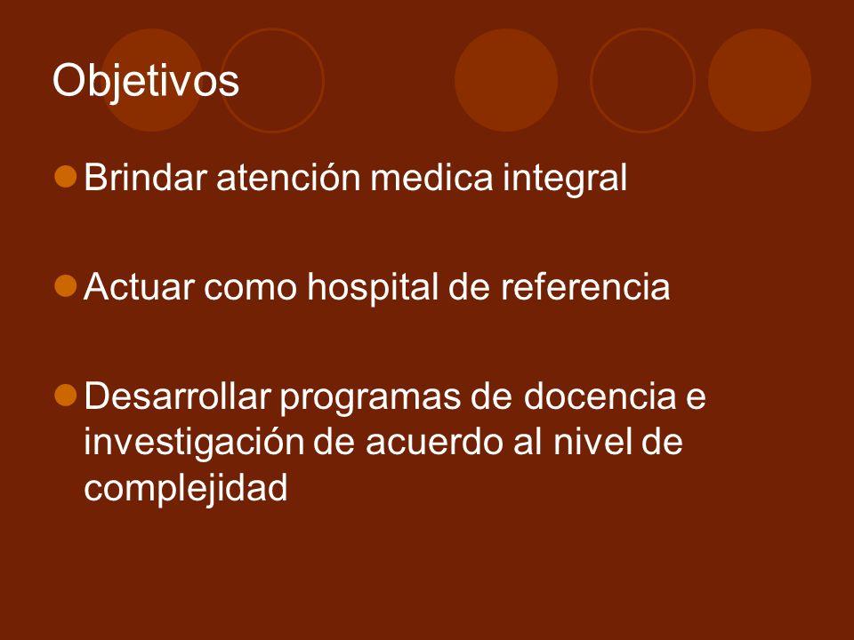 Objetivos Brindar atención medica integral
