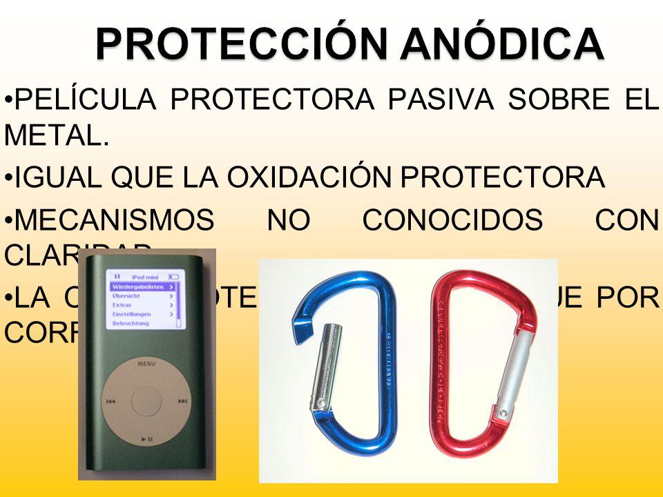 PROTECCIÓN ANÓDICA PELÍCULA PROTECTORA PASIVA SOBRE EL METAL.