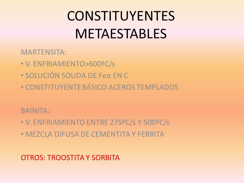 CONSTITUYENTES METAESTABLES