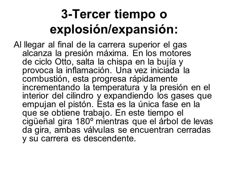 3-Tercer tiempo o explosión/expansión: