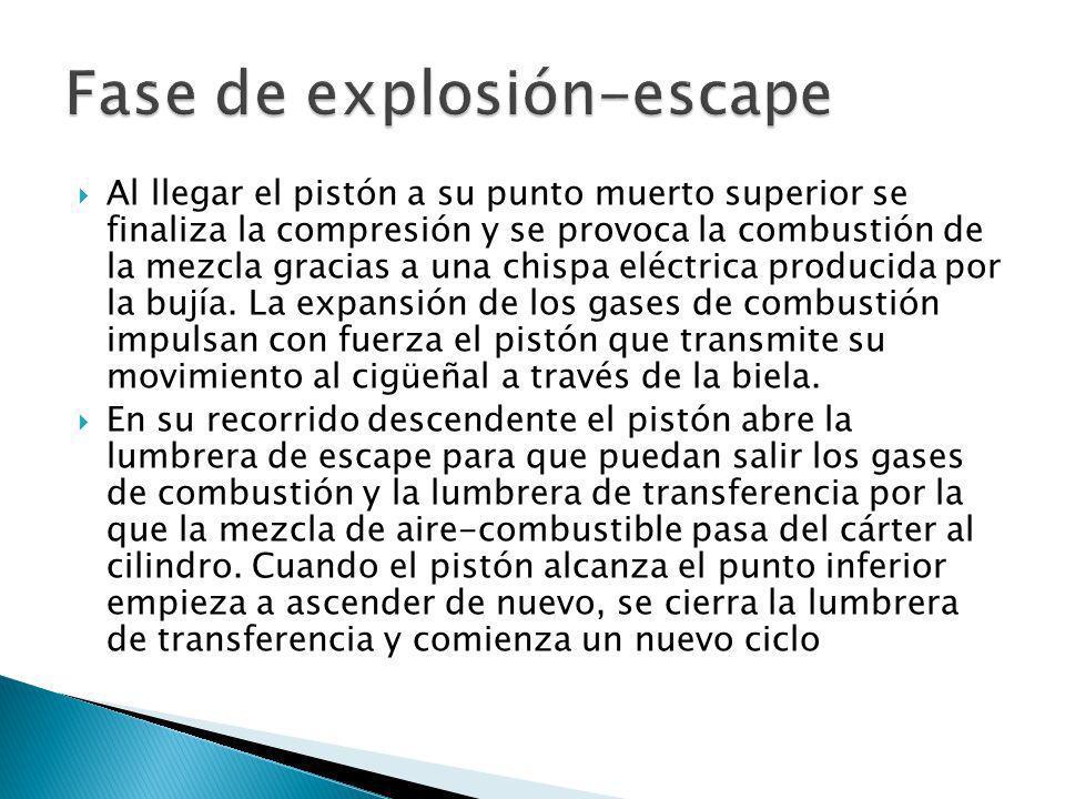 Fase de explosión-escape