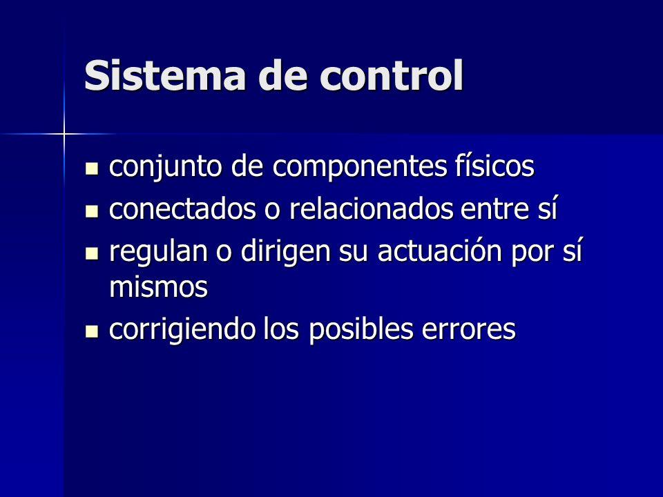 Sistema de control conjunto de componentes físicos
