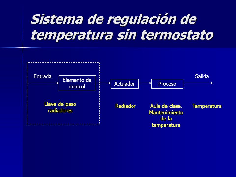 Sistema de regulación de temperatura sin termostato