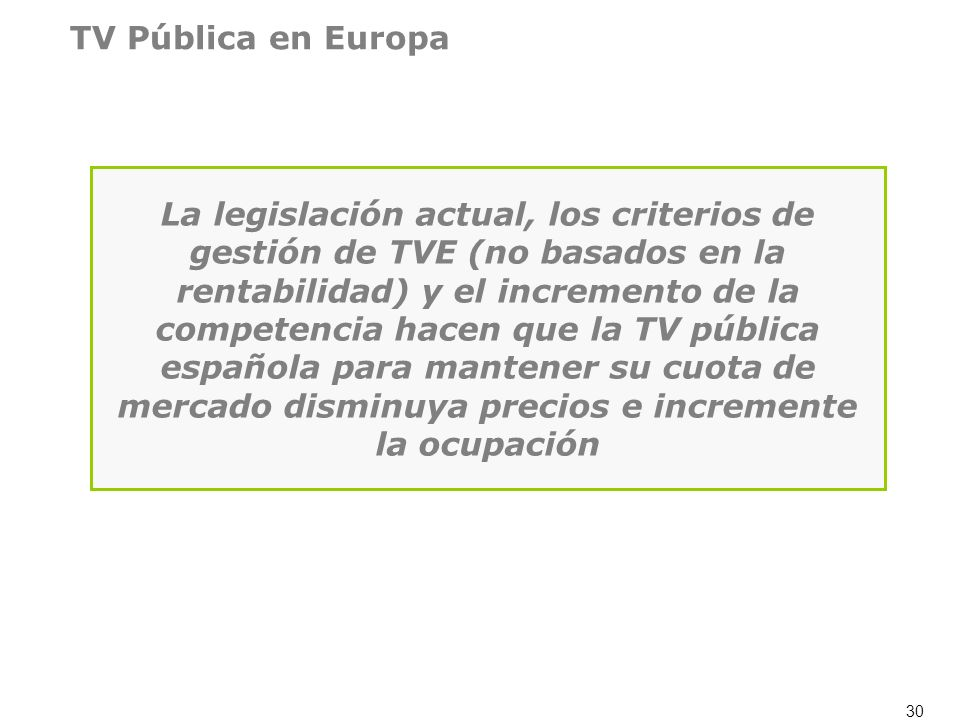 TV Pública en Europa