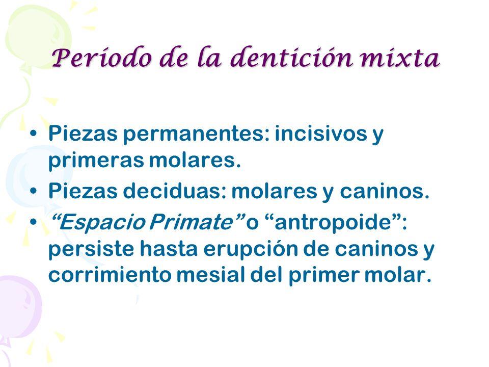 Período de la dentición mixta