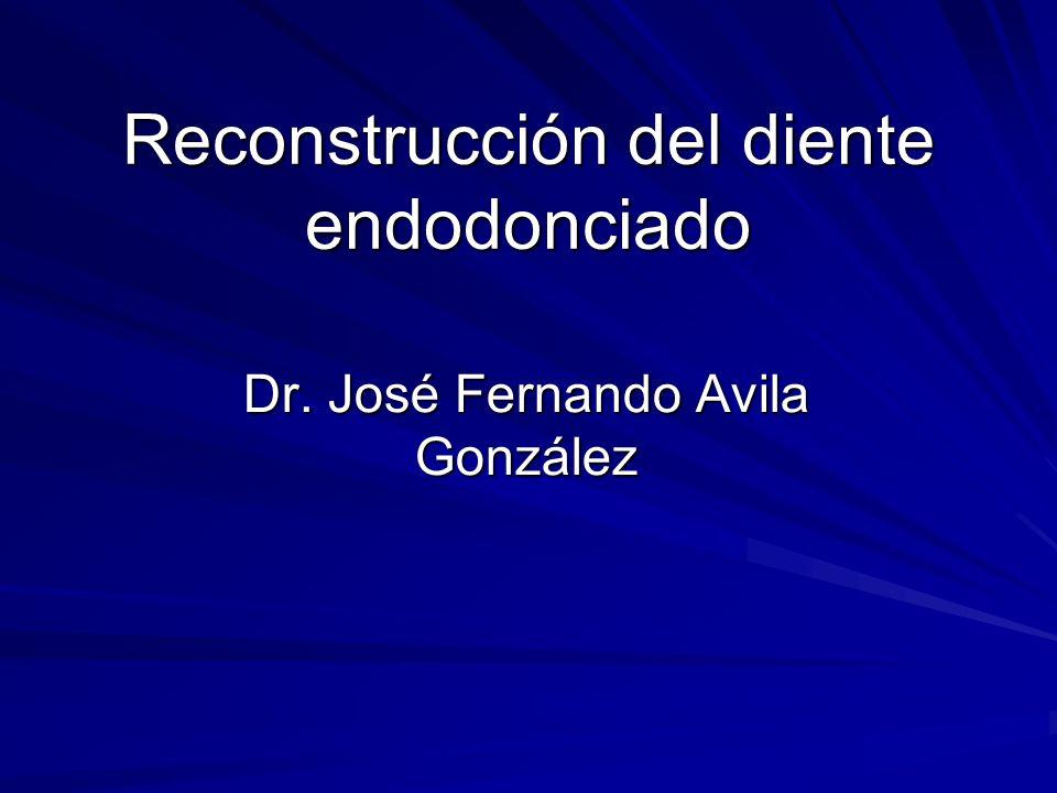 Reconstrucción del diente endodonciado