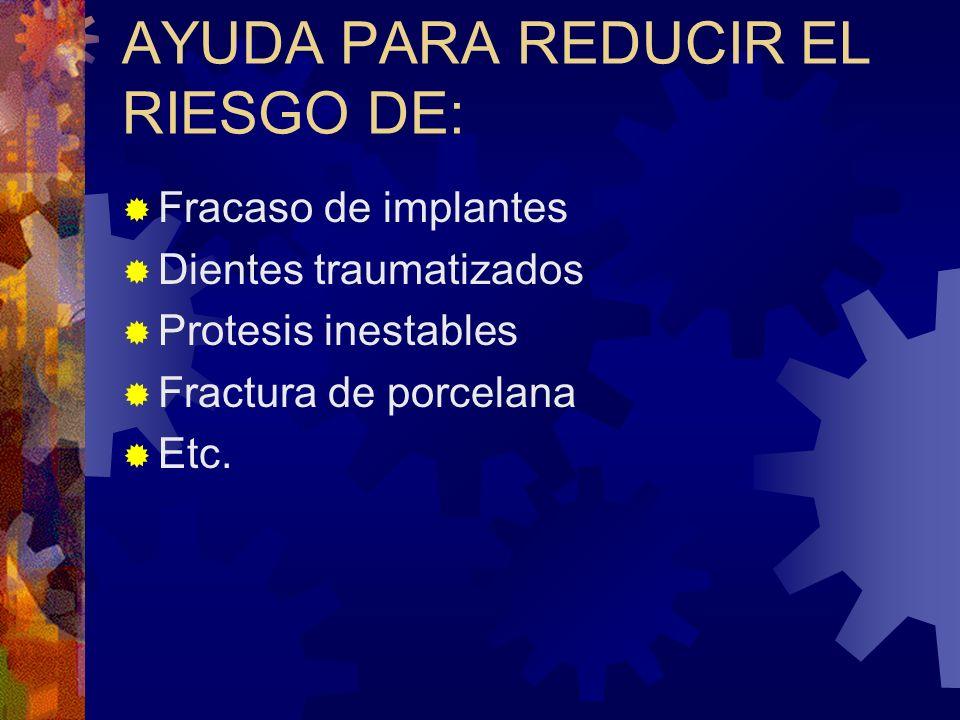 AYUDA PARA REDUCIR EL RIESGO DE: