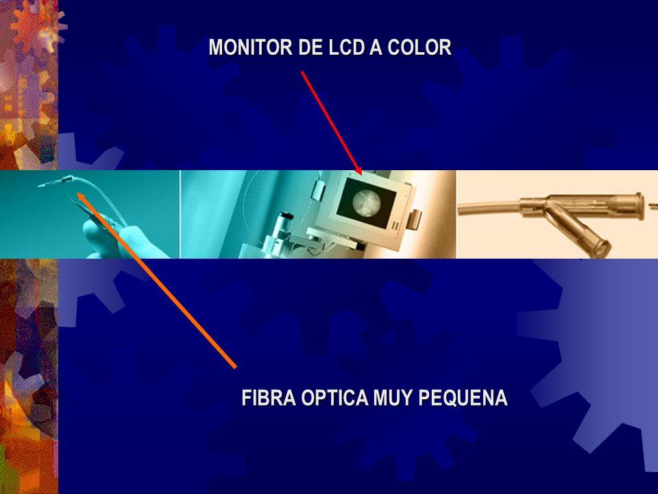 MONITOR DE LCD A COLOR FIBRA OPTICA MUY PEQUENA