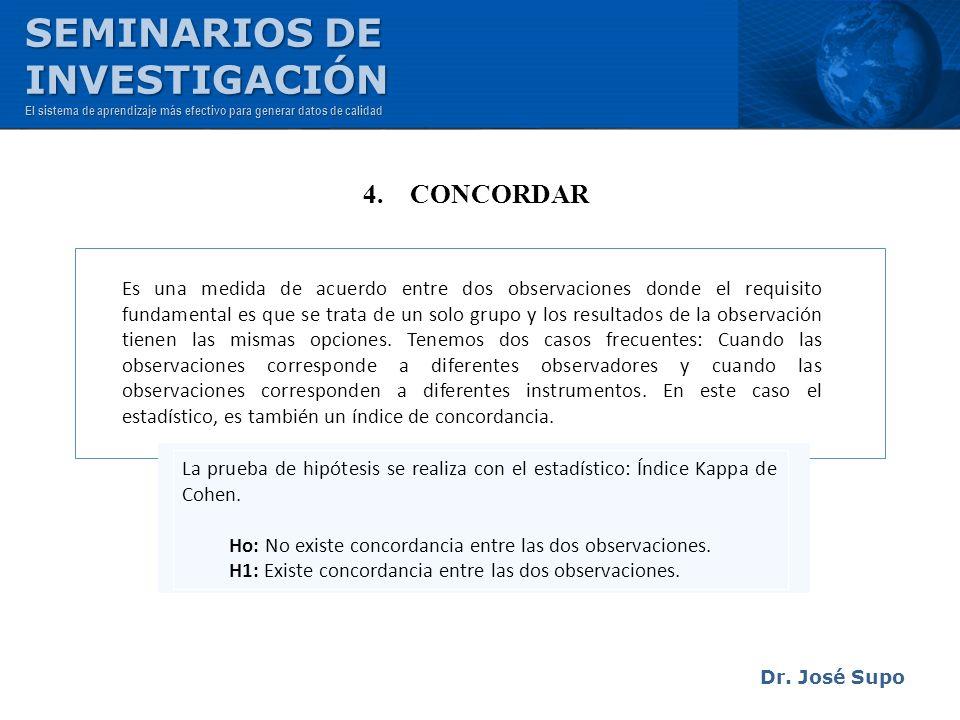SEMINARIOS DE INVESTIGACIÓN 4. CONCORDAR