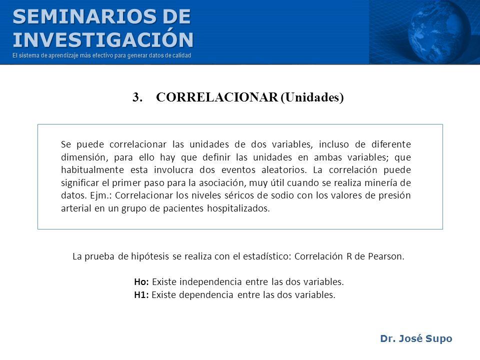 3. CORRELACIONAR (Unidades)