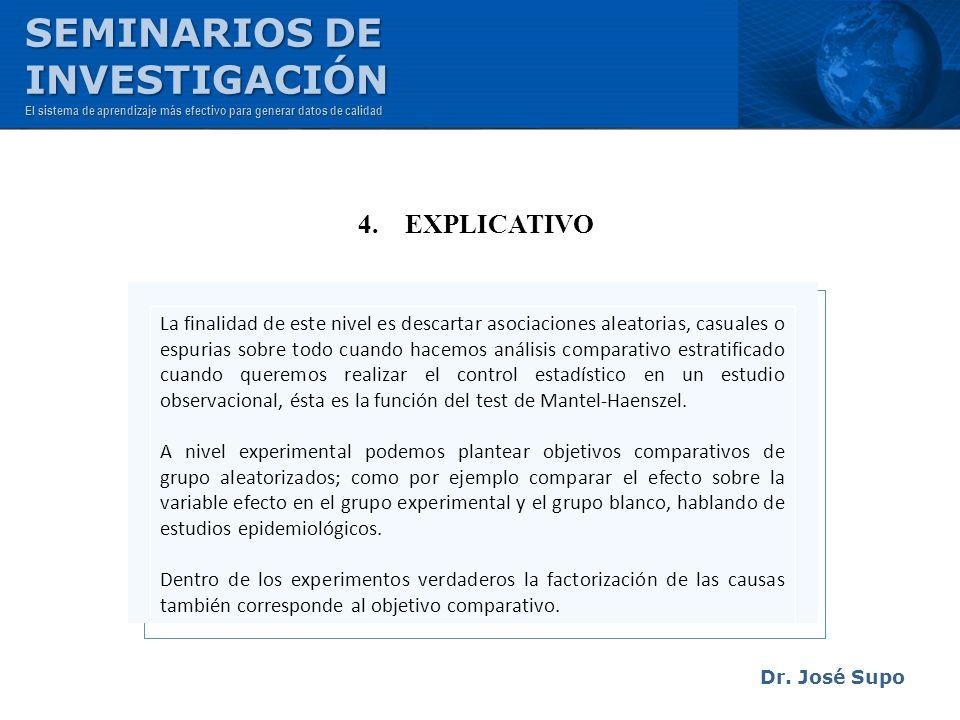 SEMINARIOS DE INVESTIGACIÓN 4. EXPLICATIVO