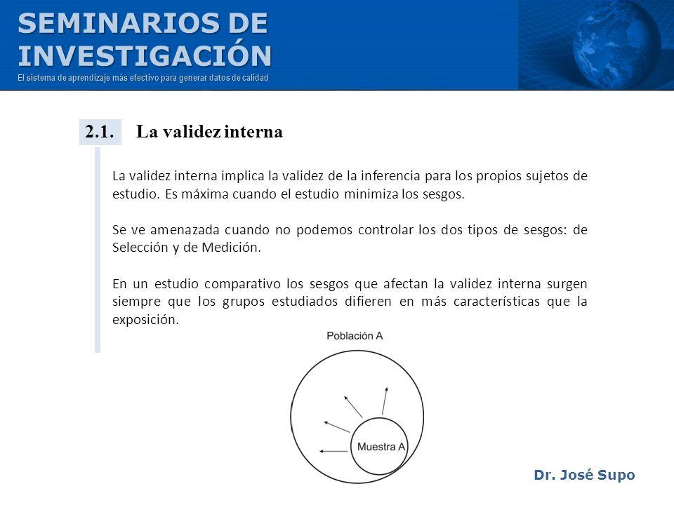 SEMINARIOS DE INVESTIGACIÓN 2.1. La validez interna