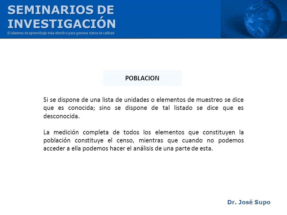 SEMINARIOS DE INVESTIGACIÓN POBLACION