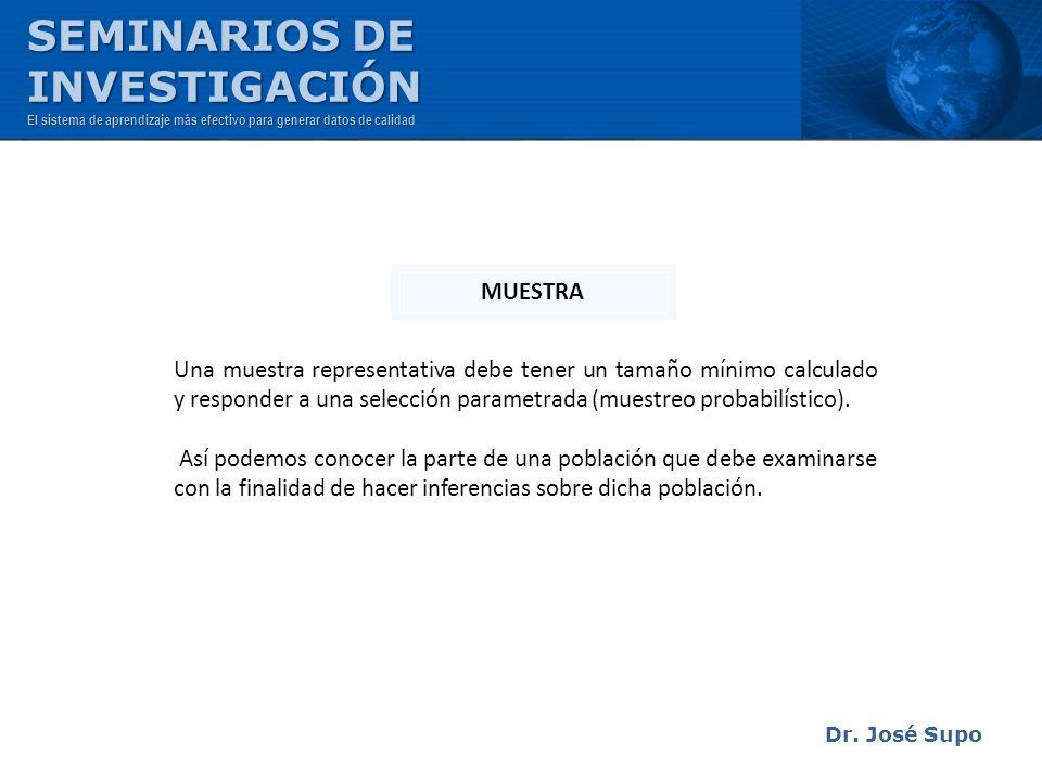 SEMINARIOS DE INVESTIGACIÓN MUESTRA