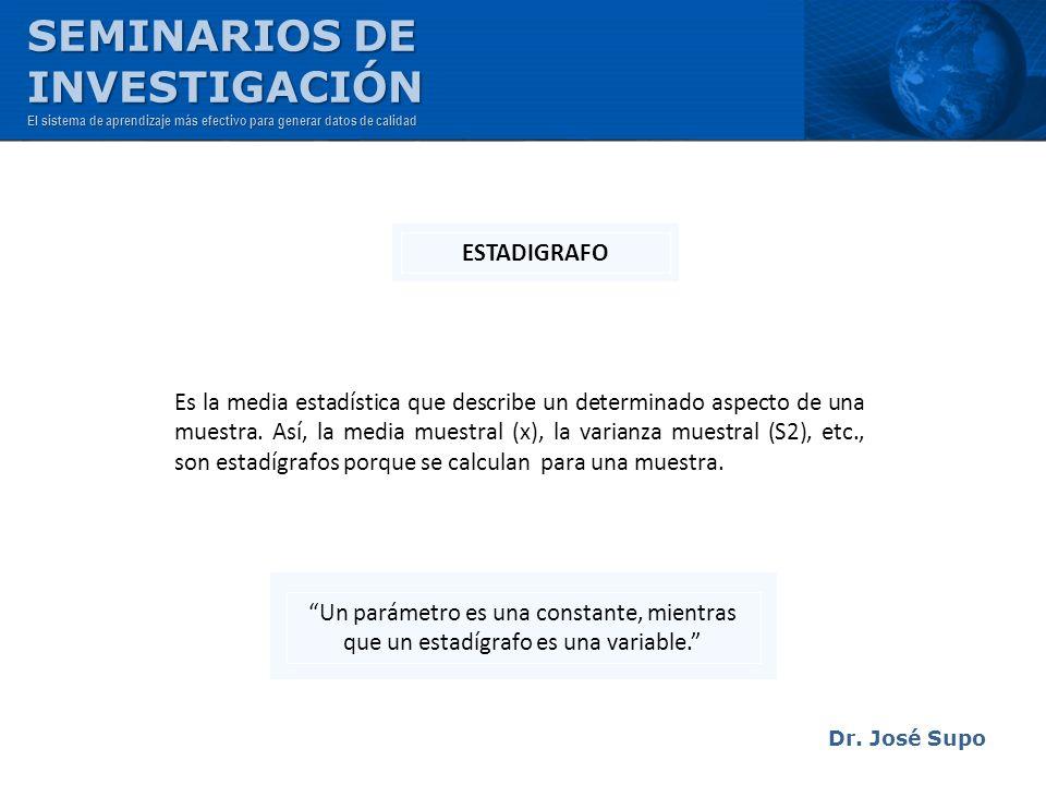 SEMINARIOS DE INVESTIGACIÓN ESTADIGRAFO