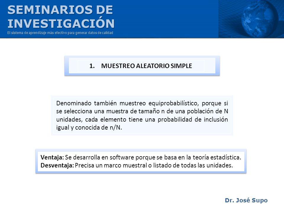 1. MUESTREO ALEATORIO SIMPLE