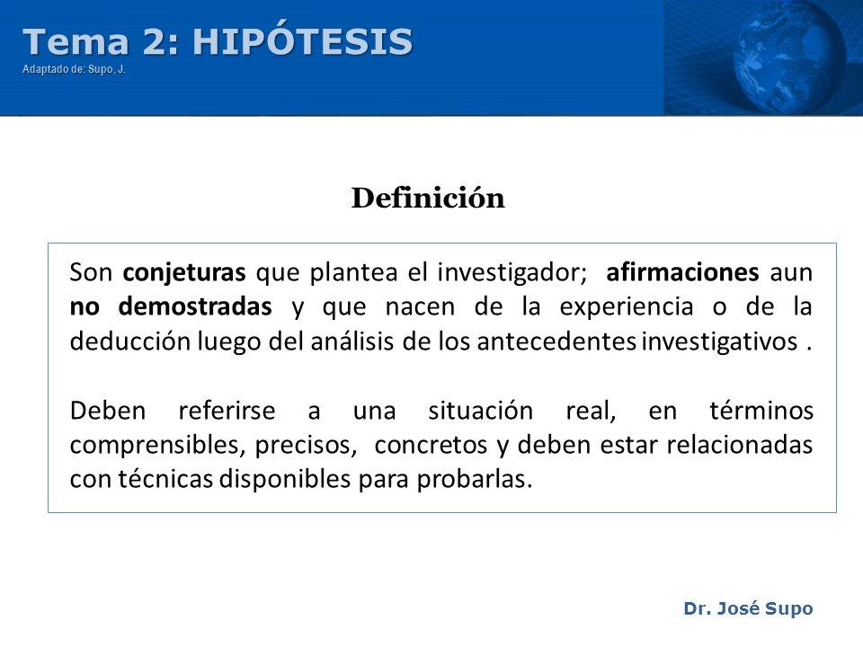 Tema 2: HIPÓTESIS Definición