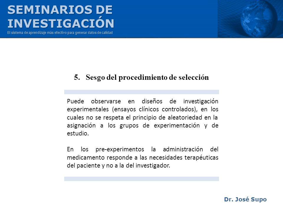 5. Sesgo del procedimiento de selección