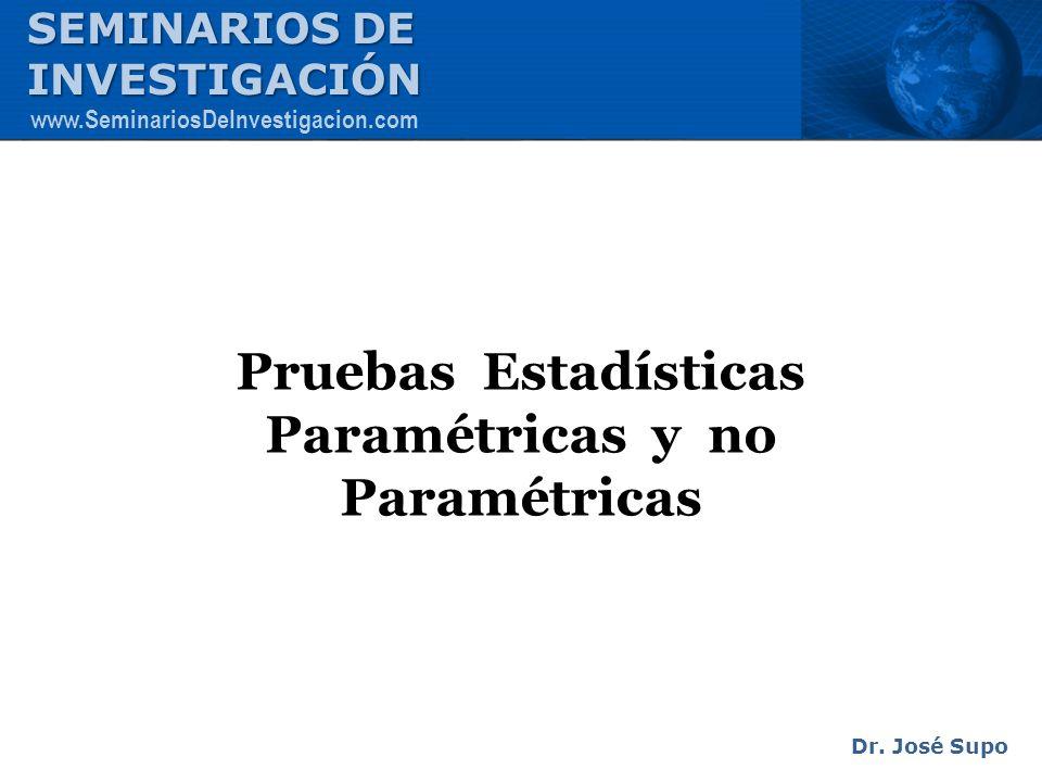 Pruebas Estadísticas Paramétricas y no Paramétricas
