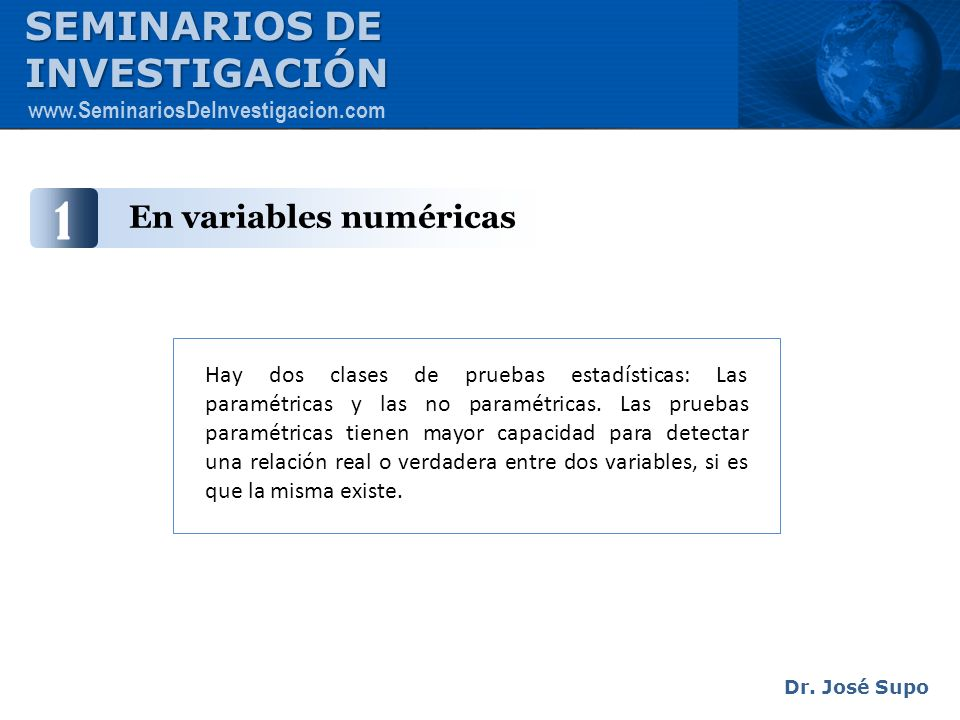 En variables numéricas