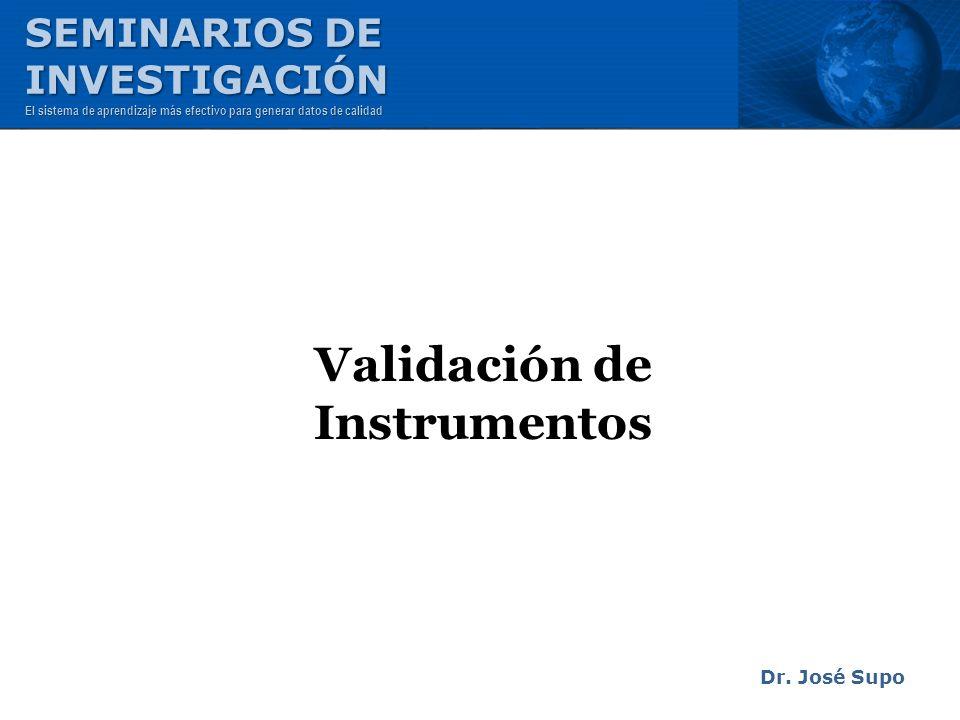 Validación de Instrumentos