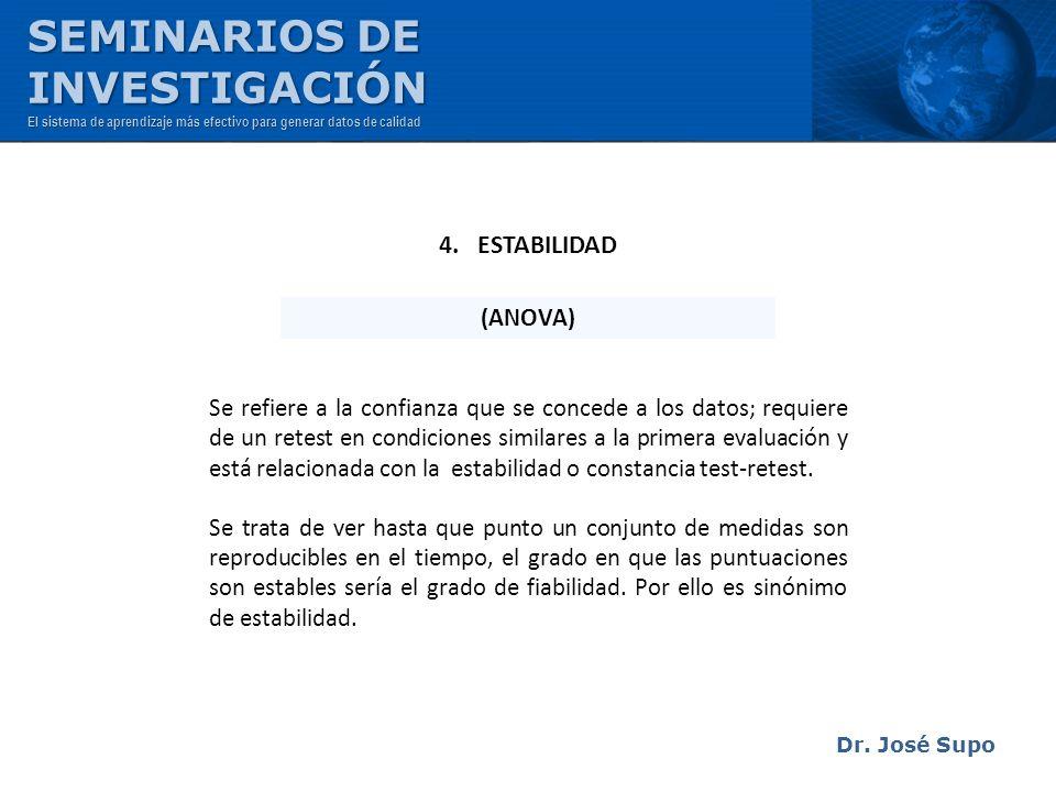 SEMINARIOS DE INVESTIGACIÓN 4. ESTABILIDAD (ANOVA)
