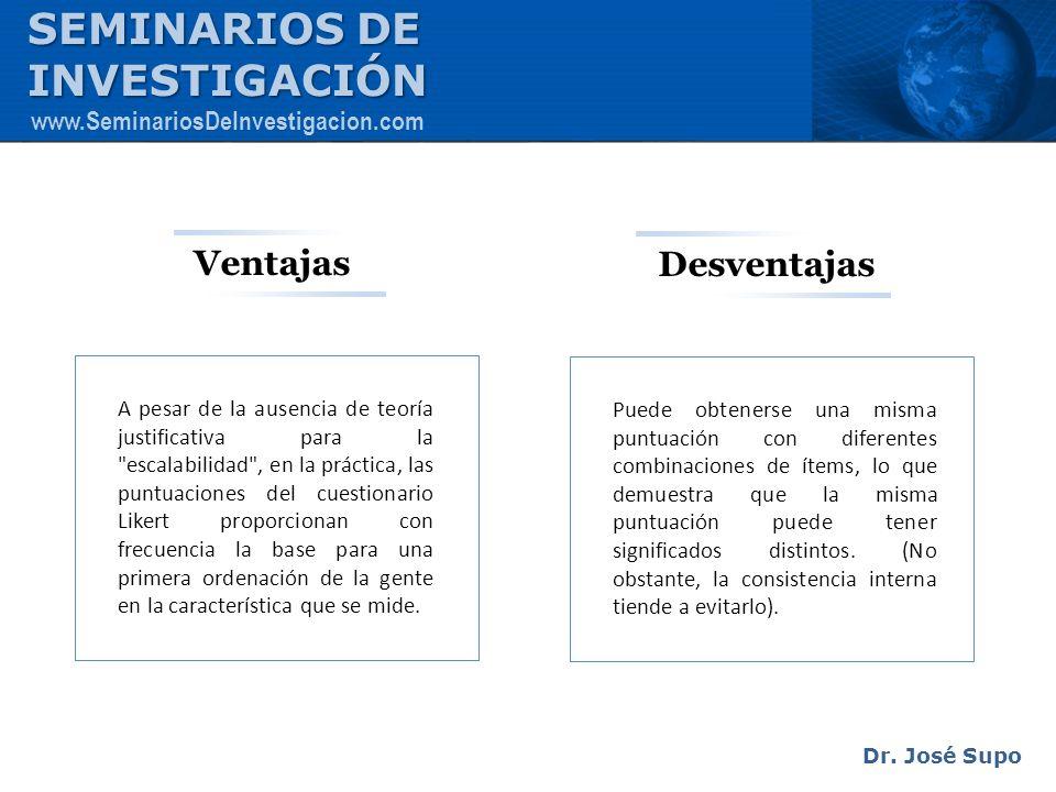 SEMINARIOS DE INVESTIGACIÓN Ventajas Desventajas