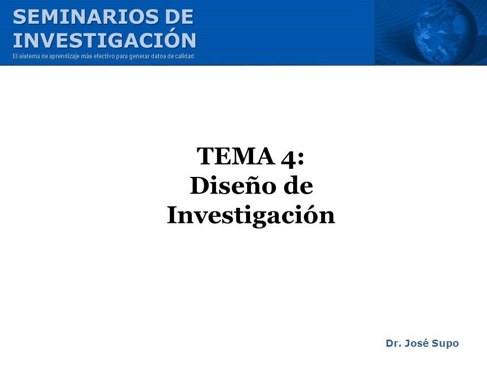 TEMA 4: Diseño de Investigación