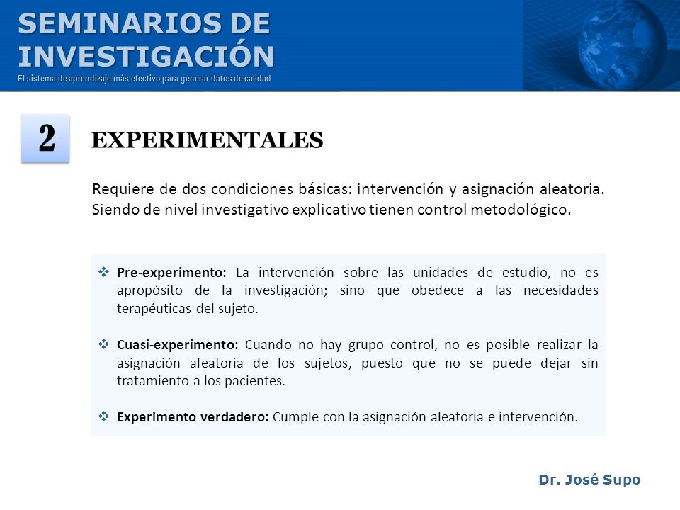 2 SEMINARIOS DE INVESTIGACIÓN EXPERIMENTALES