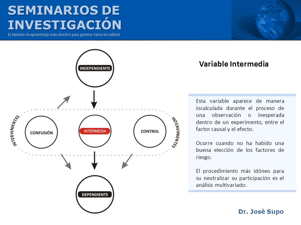 SEMINARIOS DE INVESTIGACIÓN Variable Intermedia