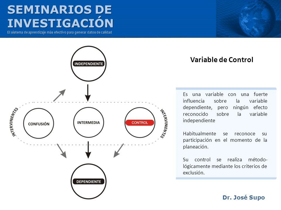 SEMINARIOS DE INVESTIGACIÓN Variable de Control