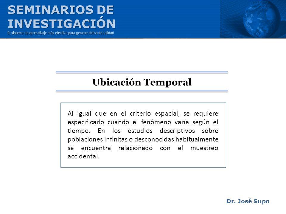 SEMINARIOS DE INVESTIGACIÓN Ubicación Temporal