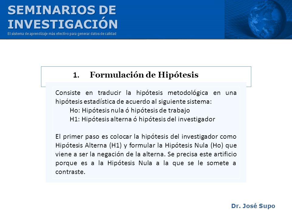 1. Formulación de Hipótesis