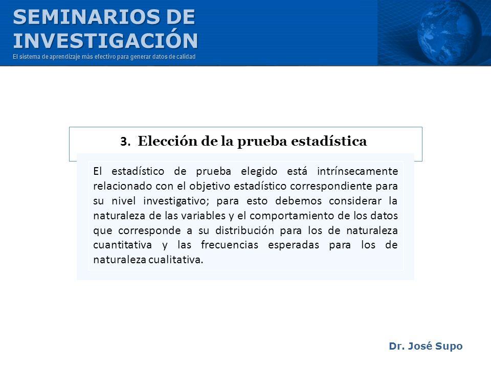 3. Elección de la prueba estadística