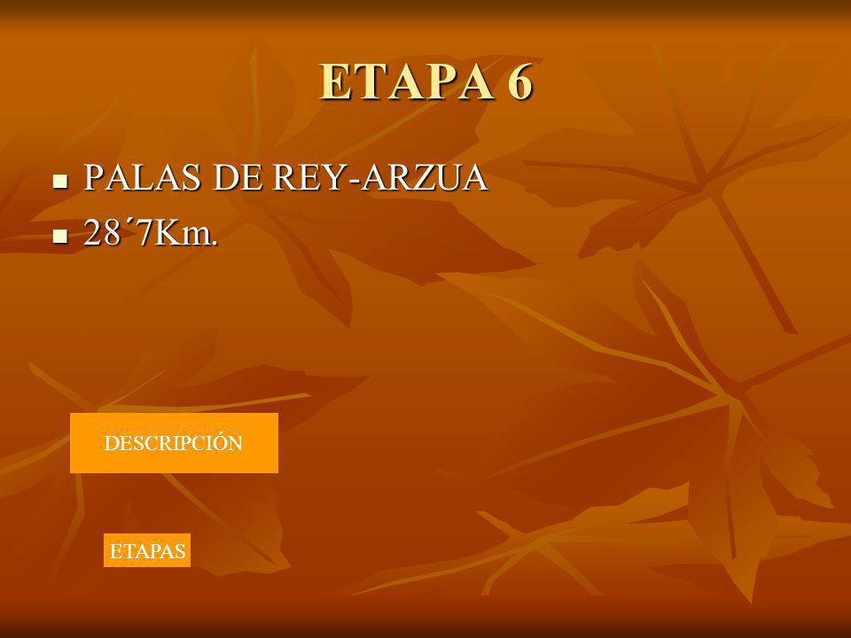 ETAPA 6 PALAS DE REY-ARZUA 28´7Km. DESCRIPCIÓN ETAPAS
