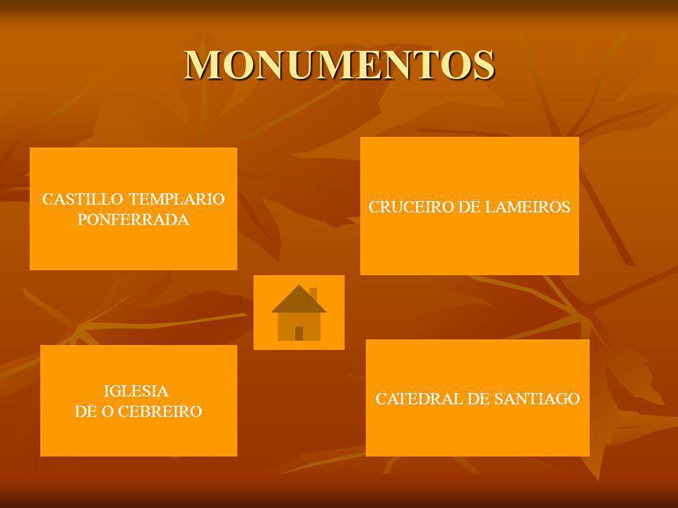 MONUMENTOS CASTILLO TEMPLARIO CRUCEIRO DE LAMEIROS PONFERRADA IGLESIA