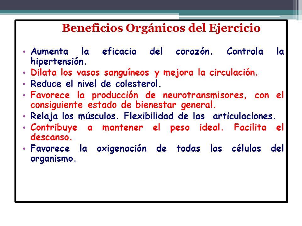 Beneficios Orgánicos del Ejercicio