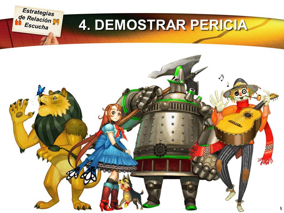 4. DEMOSTRAR PERICIA