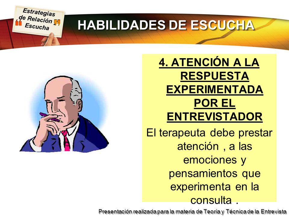 HABILIDADES DE ESCUCHA