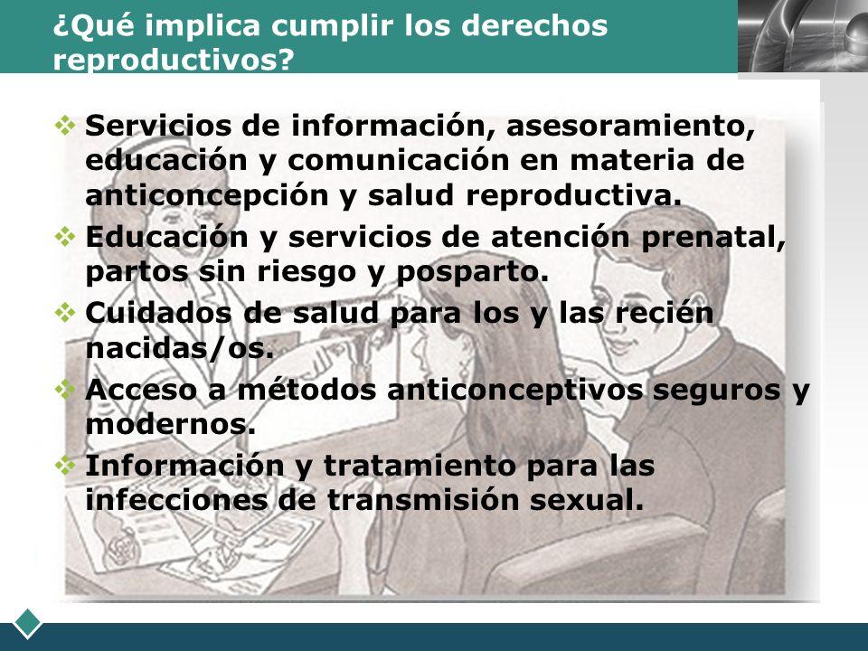 ¿Qué implica cumplir los derechos reproductivos