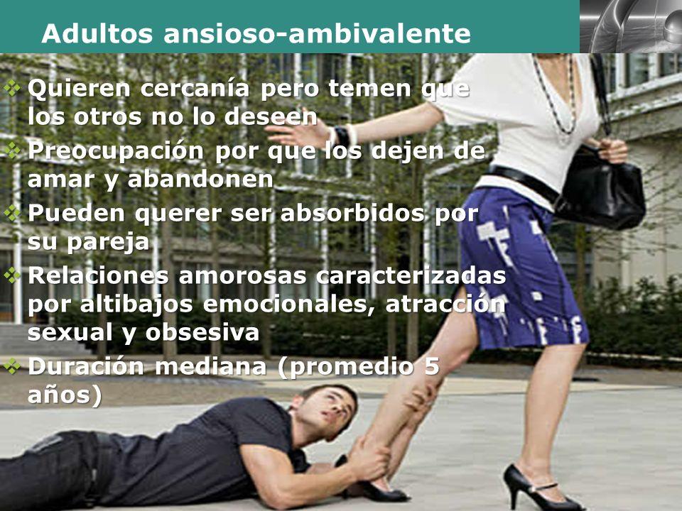 Adultos ansioso-ambivalente
