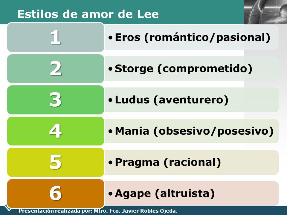 Estilos de amor de Lee