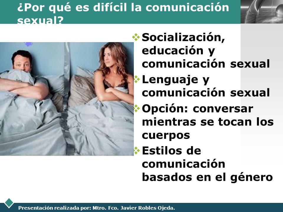 ¿Por qué es difícil la comunicación sexual