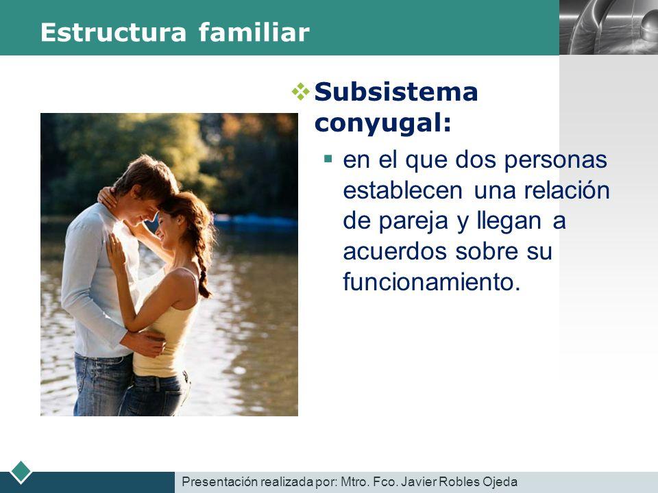 Estructura familiar Subsistema conyugal: