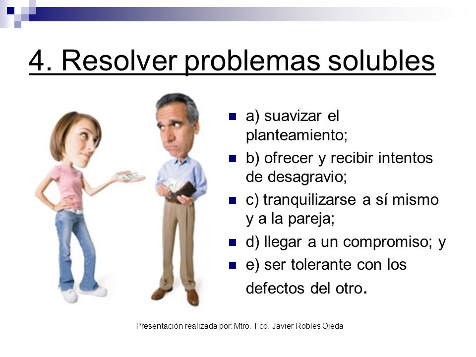 4. Resolver problemas solubles
