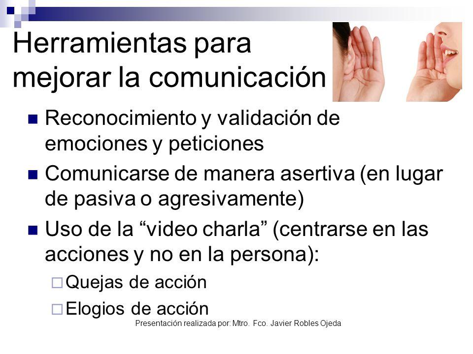 Herramientas para mejorar la comunicación